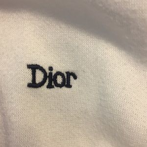 Dior Shirts - Vintage 80's Dior Mens V Neck White Sweatshirt